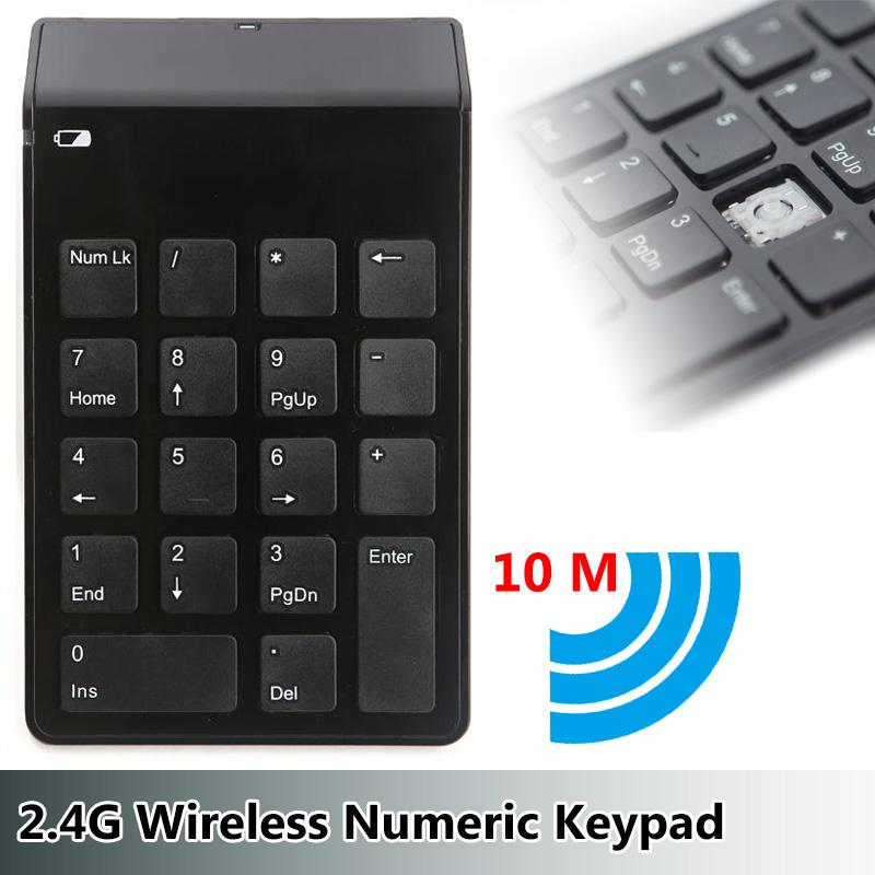 Mini Wireless Numeric Keypad 2.4G Numeric Keypad USB Numeric Keyboard
