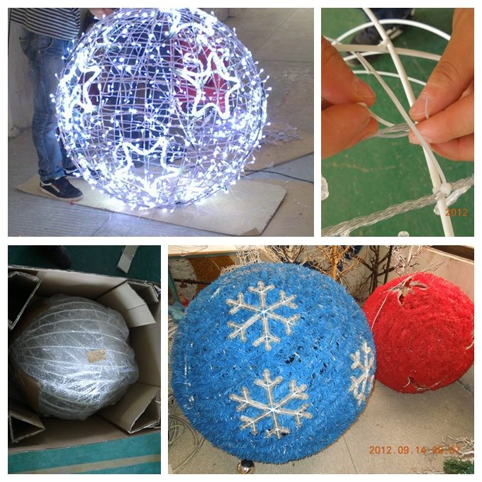 Large outdoor christmas balls lights buy outdoor for Big outdoor christmas balls