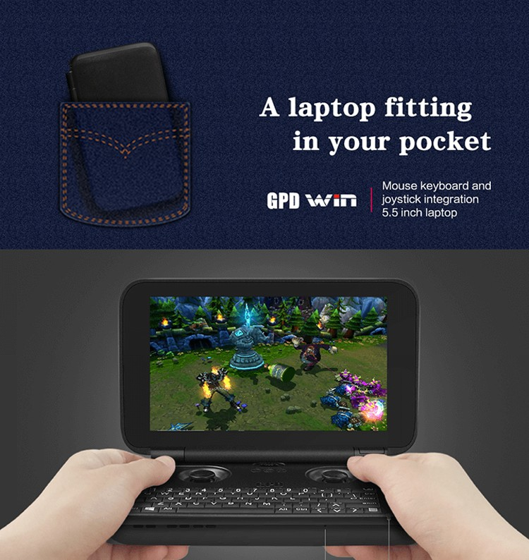 "GPD WIN Gamepad Laptop NoteBook Tablet PC 5.5"" Handheld Game Console Video Game Player x7-Z8750 Win10 4GB/64GB"