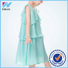 Yihao new fashion spaghetti strap flounced children chiffon dress summer 2015