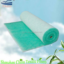 Fiberglass floor filter paint booth air filter material