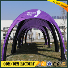 customized spider advertising inflatable dome tent for event