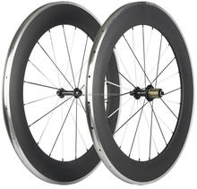 700C 88mm depth 23mm width Aluminum Braking Carbon Wheels carbon aluminium wheels clincher