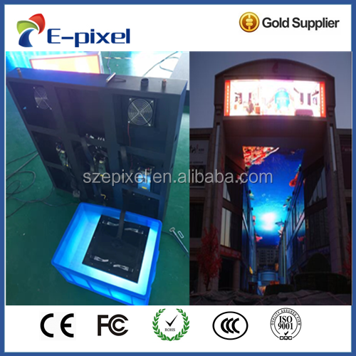 fixed assembly led panel display front maintenance service outdoor P10 commercial advetising led wall panel
