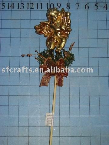 christmas angel pick,xmas pick ornament