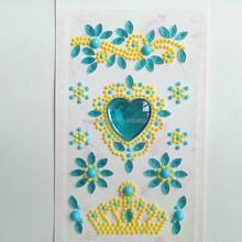 rhinestone mobile phone skin crystal cell phone jewelry sticker