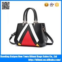 New fashion quality PU leather colorful tote bags women handbags