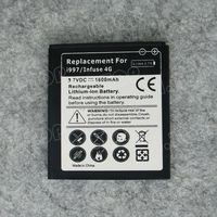 3.7V Li-ion Battery For Samsung Infuse 4G i997,replacement battery pack with White/Black or Colorful Label Used
