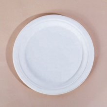 Biodegradable eco friendly one time sugarcane bagasse paper compostable <strong>plate</strong>