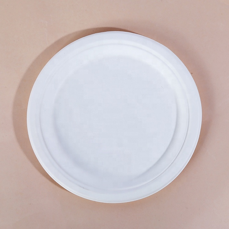 Biodegradable eco friendly one time sugarcane bagasse paper compostable plate