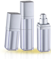 Square shape cosmetic containers,airless pump bottle,airless lotion bottle