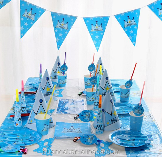 Best Sale High Quality Birthday Party Decorations Kids Sets/Birthday Party Supplies Cartoon Sets