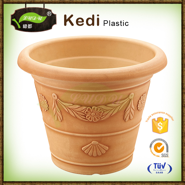 10% discount beige spray paint plastic long plastic rectangular flower pots and planting