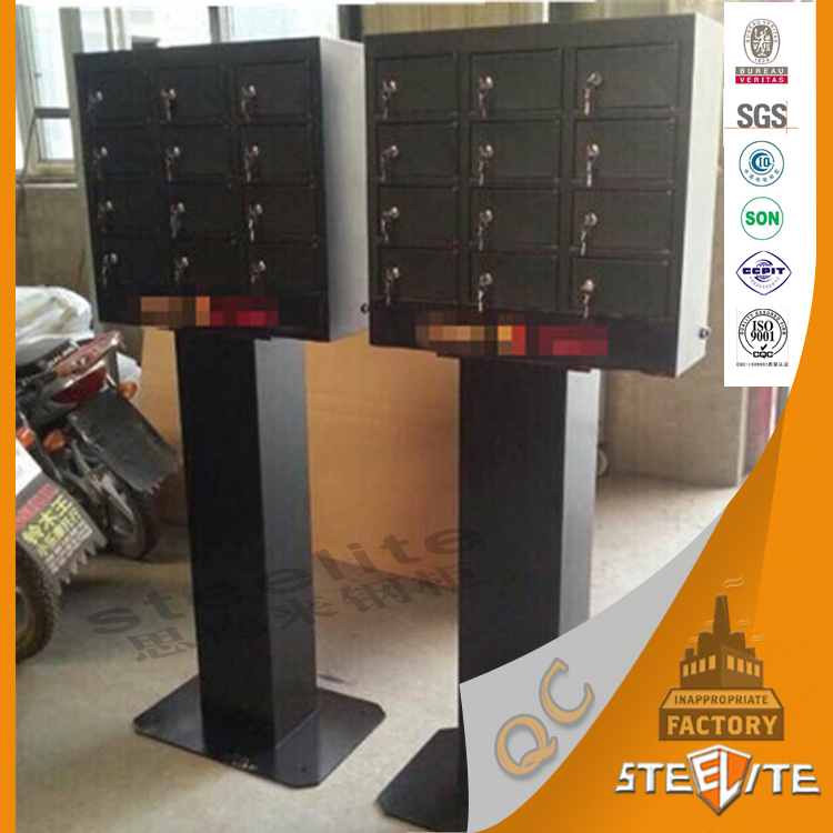 Steelite supplier portable public coin operated mobile cell phone charge station