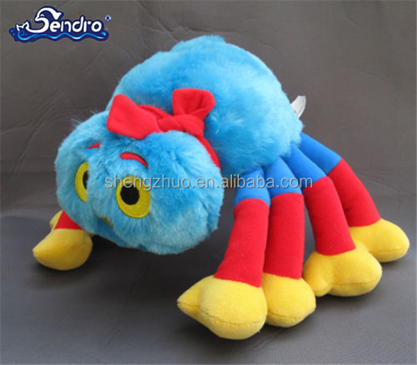 NEW WOOLLY Bespoke customized manufacture Plush baby Spider soft toys