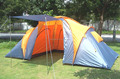 2 Room 1 Hall Family tent, 6 Person Double Layer Camping tent