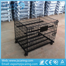 Zinc plated mental customized selective wire mesh container used for storage