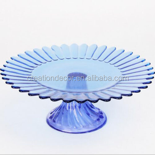 Glass chocolate candy pan wedding cup cake display stand