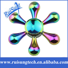 Rainbow Fidget Spinner Metal Finger Spinner EDC Toy For Autism Adult Anti Relieve Stress Hand Spinner Toys Funny