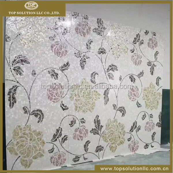 Flower raw material mother of pearl mosaic tile backsplash