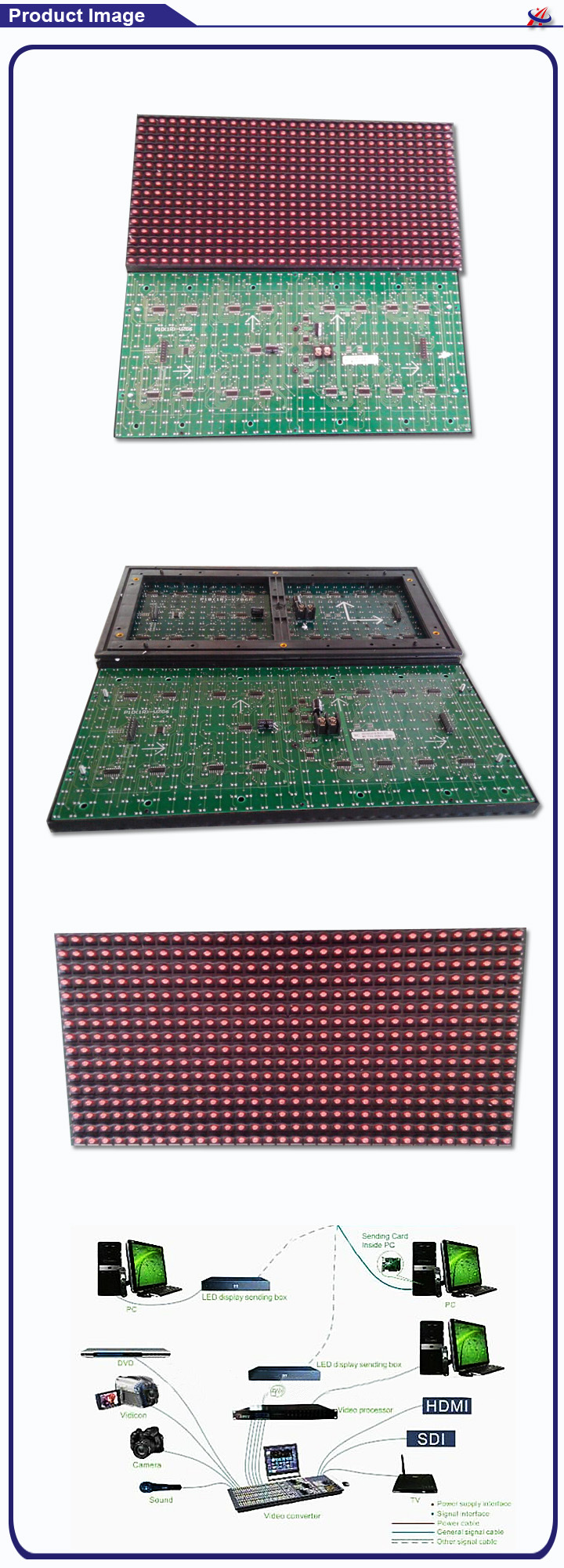 P10 semi-outdoor red led display board price