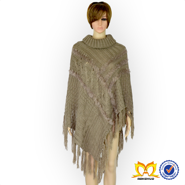 Knitted Winter Cape Stylished Ladies Poncho Cardigan Women Wear Poncho
