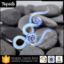 Toposh body jewelry Pyrex Glass Ear Plug and Taper gauges factory China body jewelry piercing manufacturer