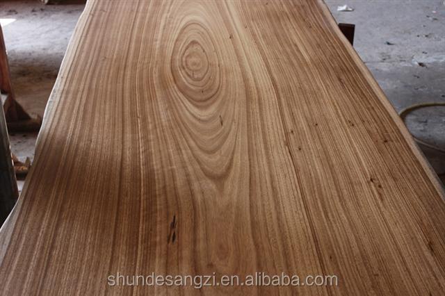 빈티지 스타일 안정성 호두 단단한 나무 슬래브 철 또는 SS 자료 ...