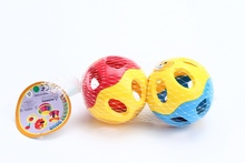 safe funny play set baby ring ABS classic football rattle with EN71