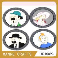 promotional cartoon characters design plastic placemats and coasters