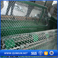 Anping supplier galvanized or PVC coated chain link mesh for air port