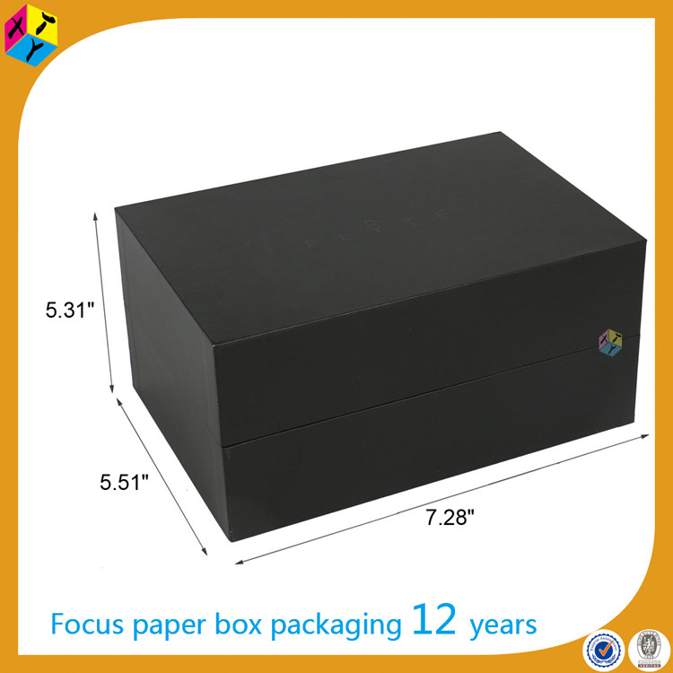 rectangular unfolding paper black kraft boxes
