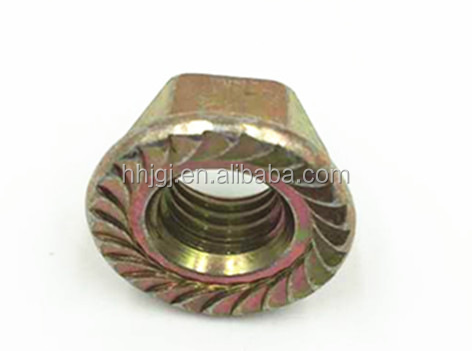 Carbon Steel /Color Zinc Plated Hex Flange Nuts (DIN6923)Flange Nut /Collared Hex Nut DIN6923 DIN6923