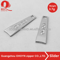 Personalized nickel-free rustless nontoxic zinc alloy boot zippers sliders puller 3.7g with superior quality