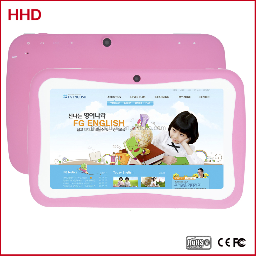 2016 smart design 7 inch Android Quad core 1024X600 HD screen 512MB 8GB children tablet kids learning tablet