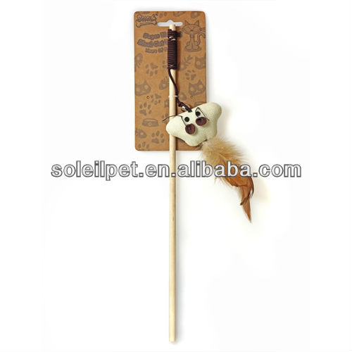 "CAT TOY,TOY FOR CAT, NATURAL RAMIE CAT PLAYING TOY /""SUPER NATURAL"" CAT TOY DANGLER"