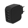 2017 NEW 5V 5A CE RoHS Certified 4 Port USB Wall phone chargers for Mobile Phone for Traveling