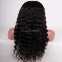 Wholesale cheap brazilian vrigin human hair wig, black women brazilian hair deep wave full lace wig, wig