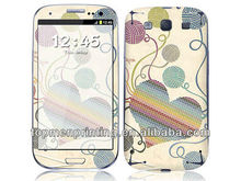 Colorful heart picture design for phone decoration vinyl cell phone skins for samsung