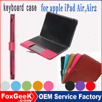 Ultra-thin Bluetooth Keyboard Stand Leather Case for ipad mini2 for ipad air2 hot selling in Alibaba express