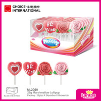 halal marshmallow lollipop with lovely design