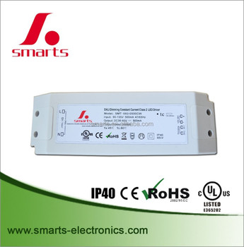 IP40 DALI dimming led driver 35-60V 500ma 30w constant current power supply
