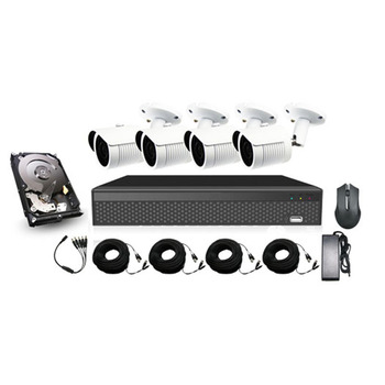 Cantonk 1080P 4ch ahd cctv kit with 4 camera bullet cantonk 1080p security camera system