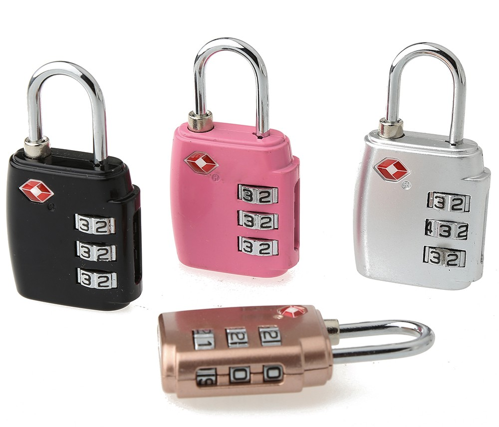TSA-551 Golden wholesaler Supply 3 digits tsa combination lock