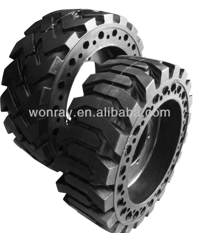 9.00-16 skid steer solid rubber tires (factory provider&manufactures)