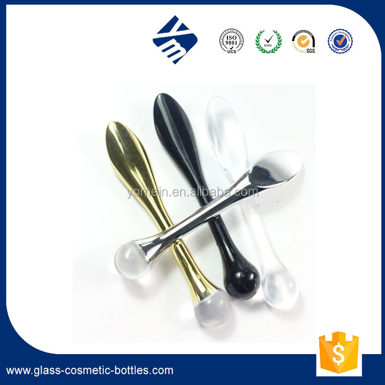 Hot Selling Cosmetic Plastic Bottle ,Clear Facial Mask Spoon / Spatula for Skincare