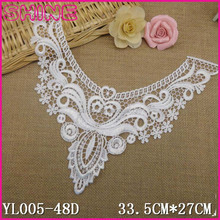 Welcome Customize Trim,New Design Creamy White DIY Fashion Chemical Water Soluble U Neck Lace Trim Applique for Garment