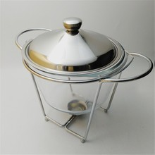 4L Cheap Fancy Glass Chafing Dish/Chafing Pot/Hot Food Warmer Buffet Server for Sale