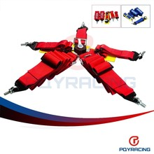 PQY STORE-New type FIA 2018 Homologation 3 inches/5Point SPA Style Racing Seat Belt RACING HARNESS(Red,blue,available) PQY-SB51