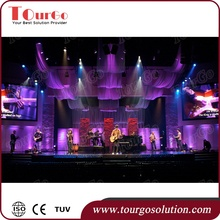 TourGo Cheap Portable Stage Equipment DJ Truss System Stage Truss Pipe and Drapes for Event Decoration